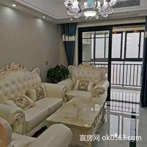 濱江花園豪裝35萬,客廳通陽臺,戶型標準無稅